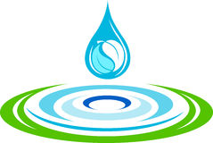 Water ripples logo. Illustration art of a water ripples logo with isolated background Stock Image