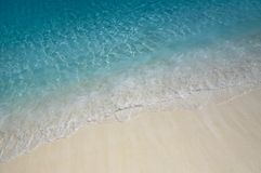 Water ripples near the shore. Nice blue water ripples near the shore in the Indian Ocean stock images