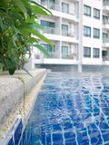 Water ripple in the swimming pool. Water ripples in the swimming pool, one standard facility of hotel and condominium Stock Images