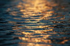 Water Ripples Sunset stock images