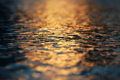 Water Ripples Sunset stock photography