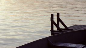 Water rippling by a floating dock in the evening stock video footage