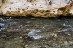 Water in the river. Acheron springs in epirus greece Stock Image