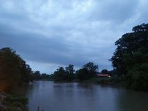 Water. In the river amid beautiful nature. Evening to sit and eat to see Stock Photo