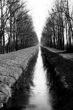 Water road. In black and white Royalty Free Stock Photo