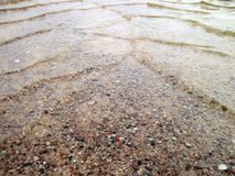 Water on road in flood time Royalty Free Stock Images