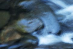 Water rock Abstract. Long exposure of water flowing over rocks Royalty Free Stock Photos