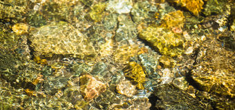 water. rock bottom clear mountain river Stock Images