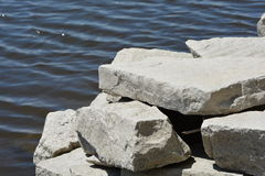 Water and Rock-1 Royalty Free Stock Photography