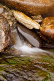 Water Flows Over Rocks Riverbed Royalty Free Stock Photo