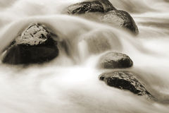 Water and rocks Royalty Free Stock Photos