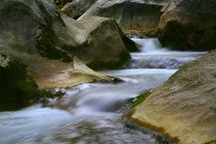 Water and rocks. Local canyon in Vipava valley Stock Images