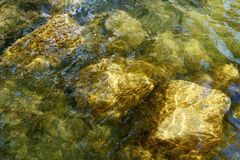 Water and Rocks Background Royalty Free Stock Photography