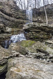 Water on the Rocks. Billy Green Falls in very early spring Stock Images