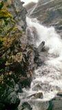 Water on rocks. Pongo, La paz Bolivia Royalty Free Stock Images