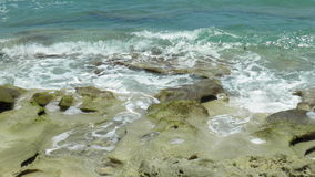 Water on the rocks. Rocky cliff in Jupiter Florida Royalty Free Stock Photos