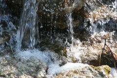 Water on rocks. Water running on the rocks Stock Photography