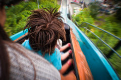 Water Rollercoaster. Photograph taken during a water roller-coaster ride Stock Photos