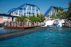 Water Rollercoaster in Europapark Stock Photography