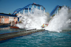 Water Rollercoaster in Europapark, Germany Stock Photos
