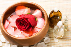 Water with rose petals Stock Photography