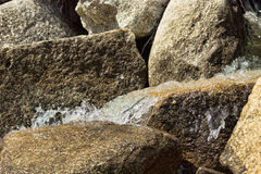 Water running over rocks Royalty Free Stock Photo