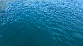 Water is running on the sea surface in the morning stock video