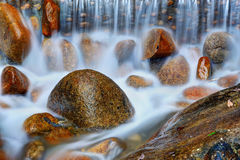Water running with stone Royalty Free Stock Image