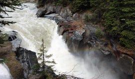 Water rushing through a canyon Stock Photos