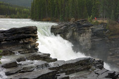 Water rushing through a canyon Stock Photo
