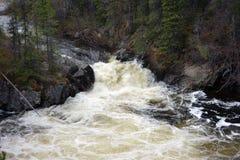 Water rushing through a canyon Royalty Free Stock Photo