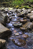 Water Rushing down over Rocks Stock Photography