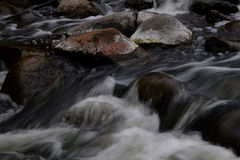 Water rushing down the river stock photos
