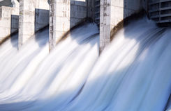 Water rushing out of a dam Royalty Free Stock Image