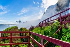 Water rushing over Niagara Falls. New York USA Royalty Free Stock Photos