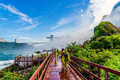 Water rushing over Niagara Falls. New York USA Royalty Free Stock Photo