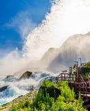 Water rushing over Niagara Falls. New York USA Stock Photo