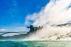 Water rushing over Niagara Falls. New York USA Royalty Free Stock Image