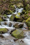Water Rushing Through Small Creek royalty free stock images