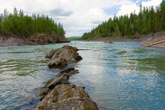 Water rushing during springtime in the rockies Stock Image