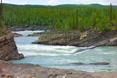 Water rushing during springtime in the yukon Royalty Free Stock Photography