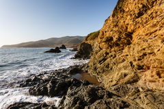 Water's Edge at Marin Headlands coastline , San Francisco Royalty Free Stock Images