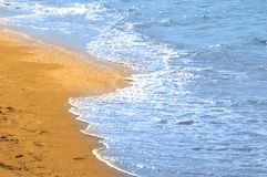 Water and sand Royalty Free Stock Photography