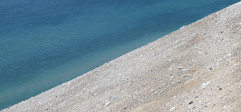 Water and Sand background in Diagonal Royalty Free Stock Photography