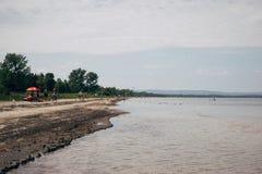 Beach. Water sand Canada Wasaga Royalty Free Stock Photography