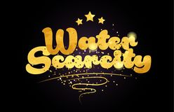 water scarcity star golden color word text logo icon royalty free stock photos