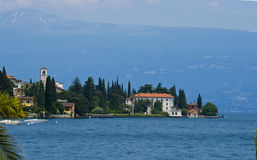 Water scenery on lake como italy Royalty Free Stock Image