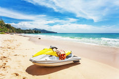 Water scooter on the beach. Royalty Free Stock Image