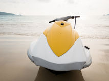 Water scooter on the beach Royalty Free Stock Images