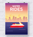 Water Scooter illustration on brick wall background concept Royalty Free Stock Images